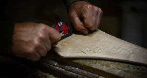 The craft of hurley making has written references to it in the 5th century. Photograph: Bryan O'Brien