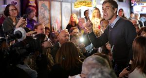 Beto O'Rourke during his second day of campaigning for the 2020 nomination in Mount Vernon, Iowa. Photograph: Chip Somodevilla/Getty Images
