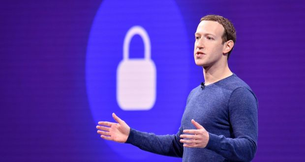Facebook chief executive Mark Zuckerberg indicated the company would, over time, offer a more secure and private offering, where people could communicate using privacy-protecting encryption, and decide how long some messages or photos remain visible. Photograph: Josh Edelson/AFP/Getty Images
