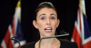 New Zealand PM Jacinda Ardern says she will never speak the name of the terrorist accused of killing  50 people in attacks on two Christchurch mosques on Friday. Photograph: David Lintott/AFP