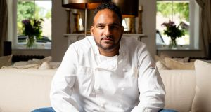 Chef and hotelier Michael Caines in the drawing room at Lympstone Manor, his hotel and restaurant on the south Devon coast.