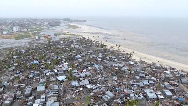Mozambique: Drone captures widespread cyclone destruction