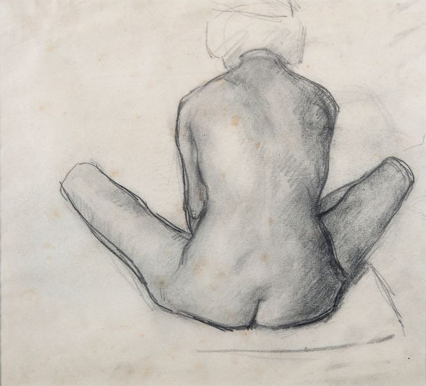 Lot 94: Nude Study Seated by Roderic O'Connor (€800-€1,200).
