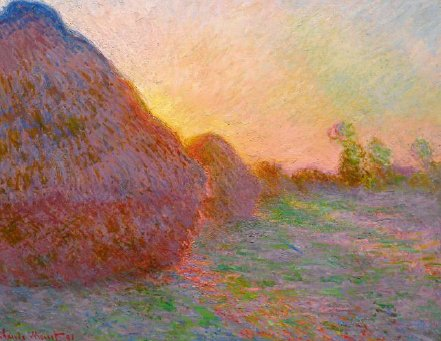 Claude Monet's Meules (1890) is being auctioned by Sotheby's in May and is expected to fetch a price of $55m. Photograph: Sotheby's