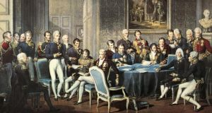 A group of  officials attending a meeting of the Congress of Vienna, in  Austria. Photograph:  De Agostini/Getty Images