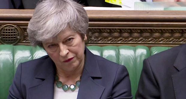 8530d61ba8 British prime minister Theresa May in the House of Commons. File  photograph: Reuters