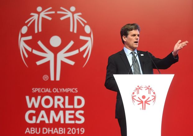 Tim Shriver, chairman of the Special Olympics: 'The biggest challenge facing people with intellectual disability in the United States is loneliness.' Photograph: Tom Dulat/Getty Images