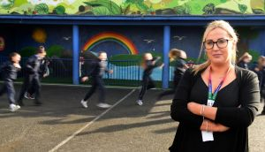 Eilish Meagher of St Audoen's school, Cook Street, Dublin, says she has concerns for the safety of pupils due to drug dealing, addicts injecting outside the school and street fights. Photograph: Dara Mac Dónaill