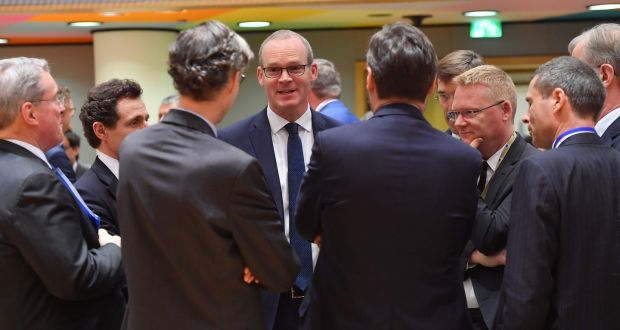 Tánaiste Simon Coveney at a meeting at the European Commission in Brussels. Photograph: Emmanuel Dunand/AFP/Getty Images