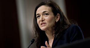 Sheryl Sandberg, chief operating officer of Facebook. Photograph: Andrew Harrer/Bloomberg