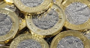 Sterling was off 0.6 per cent against the euro at €1.162. Photograph: iStock