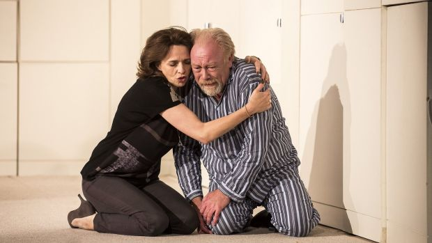 Fiona Bell and Owen Roe in Florian Zeller's play The Father, directed by Christopher Hampton, at the Gate Theatre in Dublin.