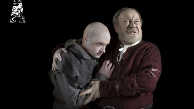 Hugh O'Connor as the Fool and Owen Roe as King Lear at the Abbey Theatre in Dublin 2013. Photograph: Anthony Woods.