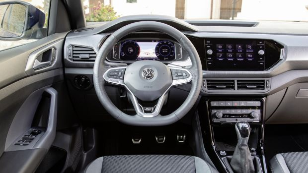 The Volkswagen T-Cross comes with a well-appointed cabin.