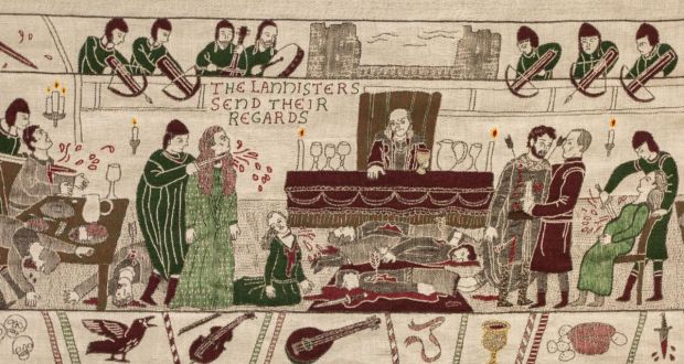 It's a nice day for a Red Wedding: a scene from the Game of Thrones Tapestry