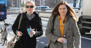 Colette (left) and Brenda Quinn pictured at the Four Courts on Wednesday. Photograph: Collins Courts
