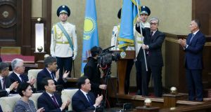 Kassym-Jomart Tokayev was named Kazakhstan's interim president   after the surprise resignation of Nursultan Nazarbayev after 30 years. Photograph: AP