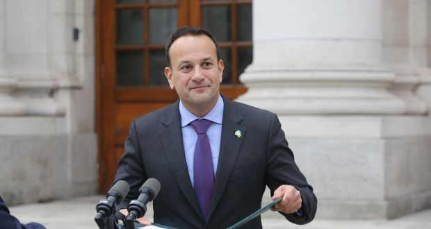 Taoiseach Leo Varadkar pictured at Government Buildings in Dublin. Photograph: Gareth Chaney/Collins