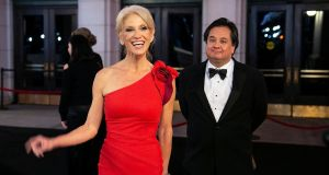 "White House adviser Kellyanne Conway and her husband George Conway: Mr Trump called Mr Conway a ""whack job""  after he questioned the US president's mental health in a tweet.  Photograph: Joshua Roberts/Reuters"