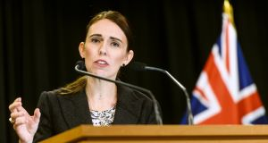 Jacinda Ardern, New Zealand's prime minister says country will ban military style semi-automatics and assault rifles and will establish a nationwide buyback Photograph: Mark Coote/Bloomberg