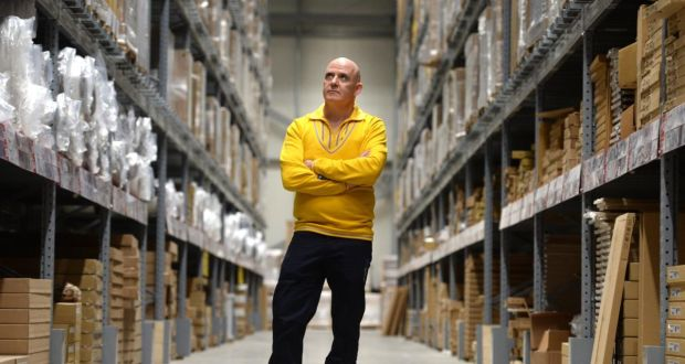 Ikea shift: Conor Pope during his day at the Dublin store. Photograph: Dara Mac Dónaill