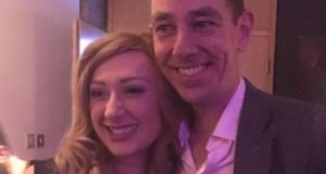 Broadcaster Ryan Tubridy pictured with HPV campaigner Laura Brennan who died aged 26 from cervical cancer. Photograph: Instagram