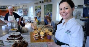 Catherine Fulvio at her Ballyknockan Cookery School in Co Wicklow. Photograph: Cyril Byrne