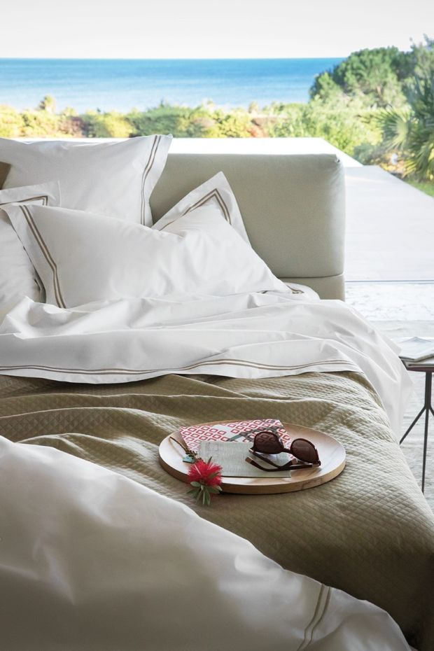 Frette Hotel Collection. King duvet cover was €399, now €279 until April 20th at Bottom Drawer, Brown Thomas