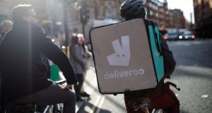 "A Deliveroo cycle courier. Precarious work is no longer confined to ""gig economy"" jobs like couriering, but is now prevalent in professions such as teaching, health, university lecturing, telecommunications and IT, Tasc said."