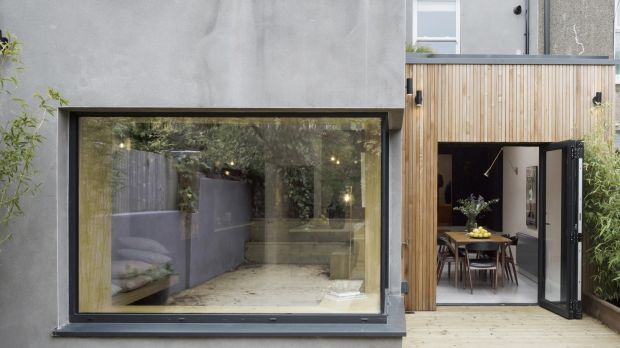 The two-storey extension adds space and light to the home. Photograph: Aisling McCoy