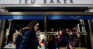 Ted Baker shares nosedived on the London market after the fashion chain's profits slumped as the firm grapples with a scandal that pushed its founder to resign, as well as a competitive retail environment. Photograph: Simon Dawson/Reuters