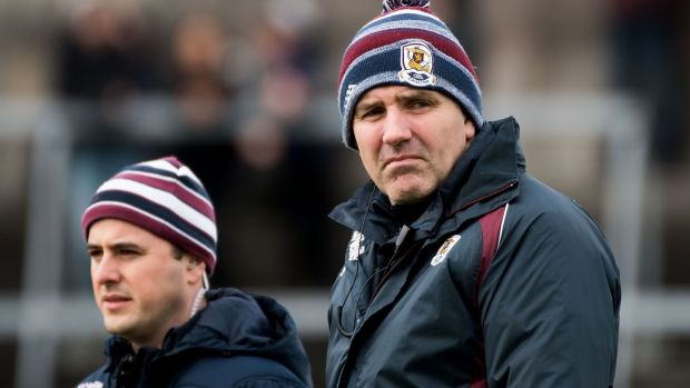 Galway manager Kevin Walsh: remains to be seen if he decides to loosen the restraints with a full panel. Photograph: Evan Logan/INPHO