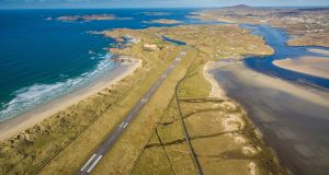 Donegal Airport's runway, voted most scenic in the world. Photograph: Owen Clarke