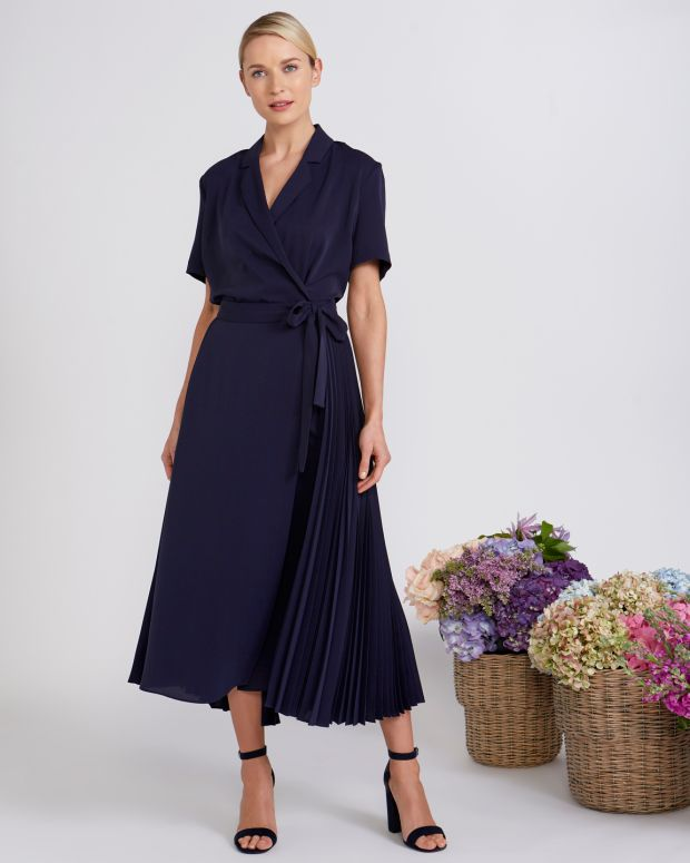 Peter O'Brien for Dunnes: pleated wrap skirt, €150