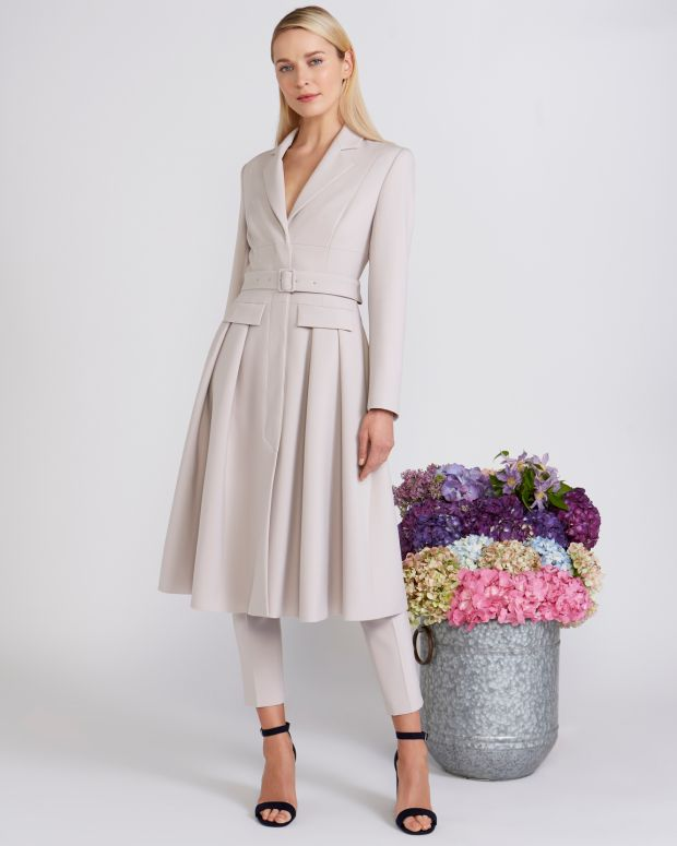 Peter O'Brien for Dunnes: belted coat, €350