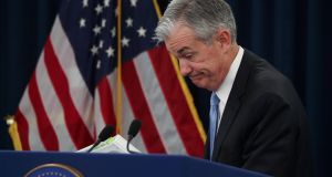 US Federal Reserve chairman Jerome Powell   insisted the US economy remains strong, but many commentators speculated the Fed must be increasingly concerned about a looming slowdown Photograph: Jonathan Ernst/Reuters