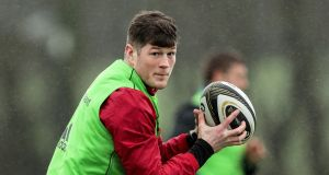 Munster backrow Jack O'Donoghue is back in the starting team for this weekend's Pro14 clash against Zebre. Photograph: Laszlo Geczo/Inpho