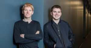 Stripe founders Patrick and John Collison. The company's valuation recently rose to €19.9 billion