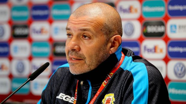 Gibraltar manager Julio César Ribas. Photograph: Ryan Byrne/Inpho