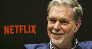 Netflix co-founder and chief executive Reed Hastings. The company spends about  €1 billion a year on technology and  €8.8 billion on content. Photograph: Ore Huiying/Getty Images for Netflix