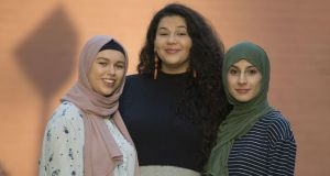 Muslim students (from left) Aisha Siwar, Rosie Al Johmani and Ryma Halfaoui, are organising a march in solidarity with the victims of the Christchurch shootings which will take place in Dublin on Saturday, March 23rd. Photograph: Dave Meehan/The Irish Times