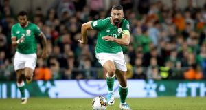 Jon Walters has announced his retirement from football. Photograph: Ryan Byrne/Inpho