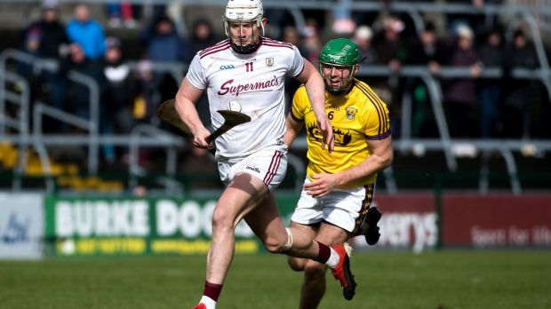 Joe Canning: has been in fine form for Galway throughout the league and will be a major threat to Waterford's defence at Nowlan Park. Photograph: Evan Logan/Inpho