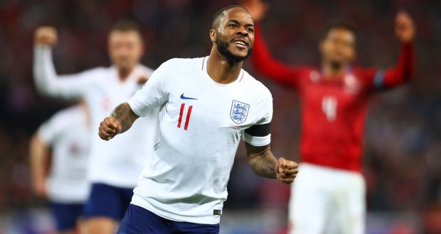 new product 3b595 e9536 Raheem Sterling shines as Declan Rice makes England bow