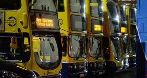 Three more bus routes are to switch from Dublin Bus to Go-Ahead Ireland from Sunday in a move that will mark the final phase of a privatisation plan that began in the capital in September. Photograph: Alan Betson/The Irish Times.
