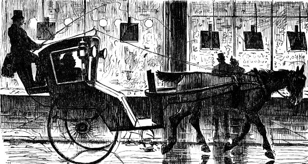 Lost Leads, 1900: John had not been out working in his cab for some time. Illustration: iStock