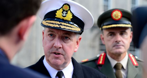 Vice-Admiral Mark Mellett has been Chief of Staff of the Defence Forces since 2015. Photograph: Cyril Byrne