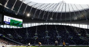 A general view of the new Tottenham Hotspur Stadium during the match between Tottenham and Southampton in the  Under 18 Premier League, a test event ahead of the opening of the stadium. Photograph: David Klein/Reuters