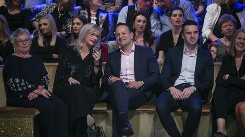 Taoiseach Leo Varadkar with RTÉ director general Dee Forbes during the final of Dancing with the Stars. Kyran O'Brien