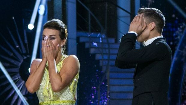 A shocked Mairéad Ronan the moment she was named winner of this year's Dancing with the Stars. Photograph: Kyran O'Brien